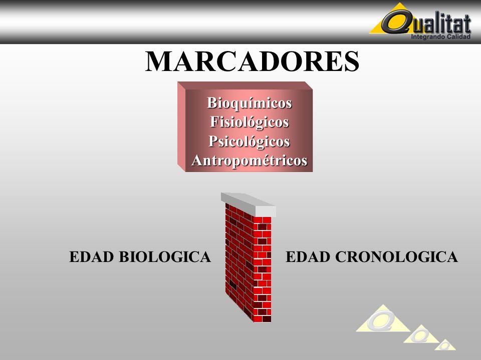 MARCADORES Bioquímicos Fisiológicos Psicológicos Antropométricos