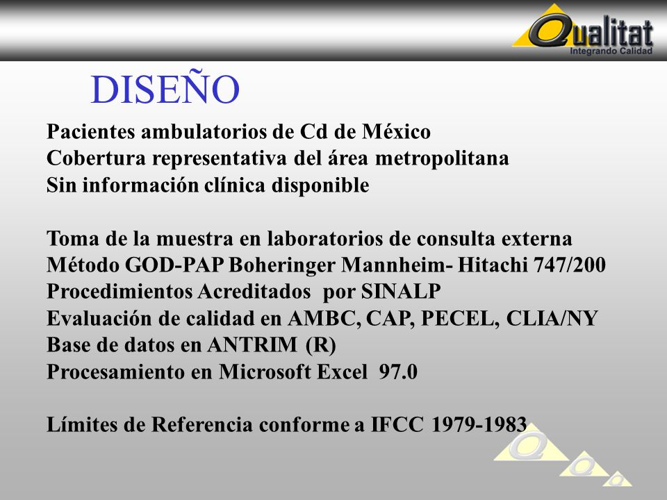 DISEÑO Pacientes ambulatorios de Cd de México