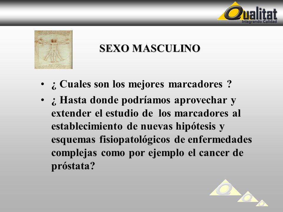 SEXO MASCULINO ¿ Cuales son los mejores marcadores