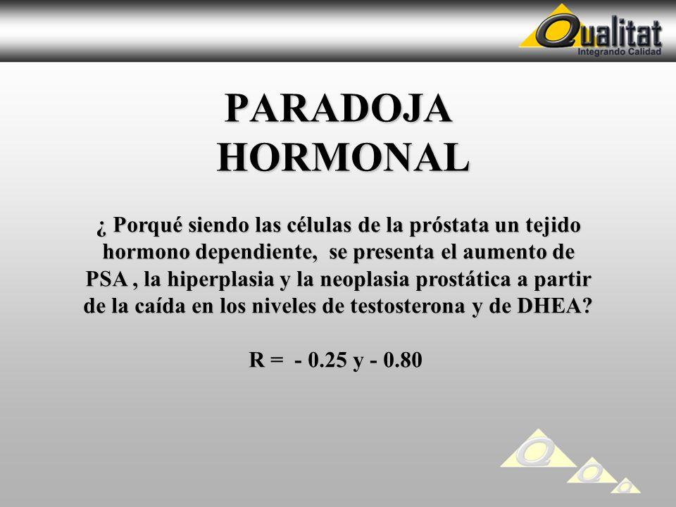PARADOJA HORMONAL ¿ Porqué siendo las células de la próstata un tejido