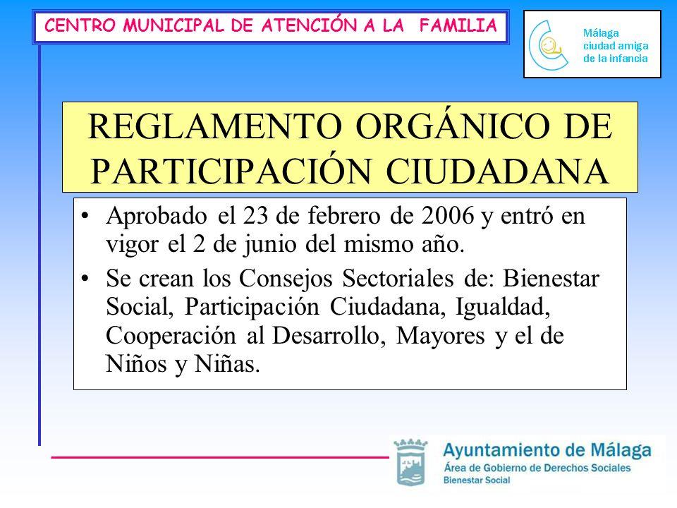 REGLAMENTO ORGÁNICO DE PARTICIPACIÓN CIUDADANA
