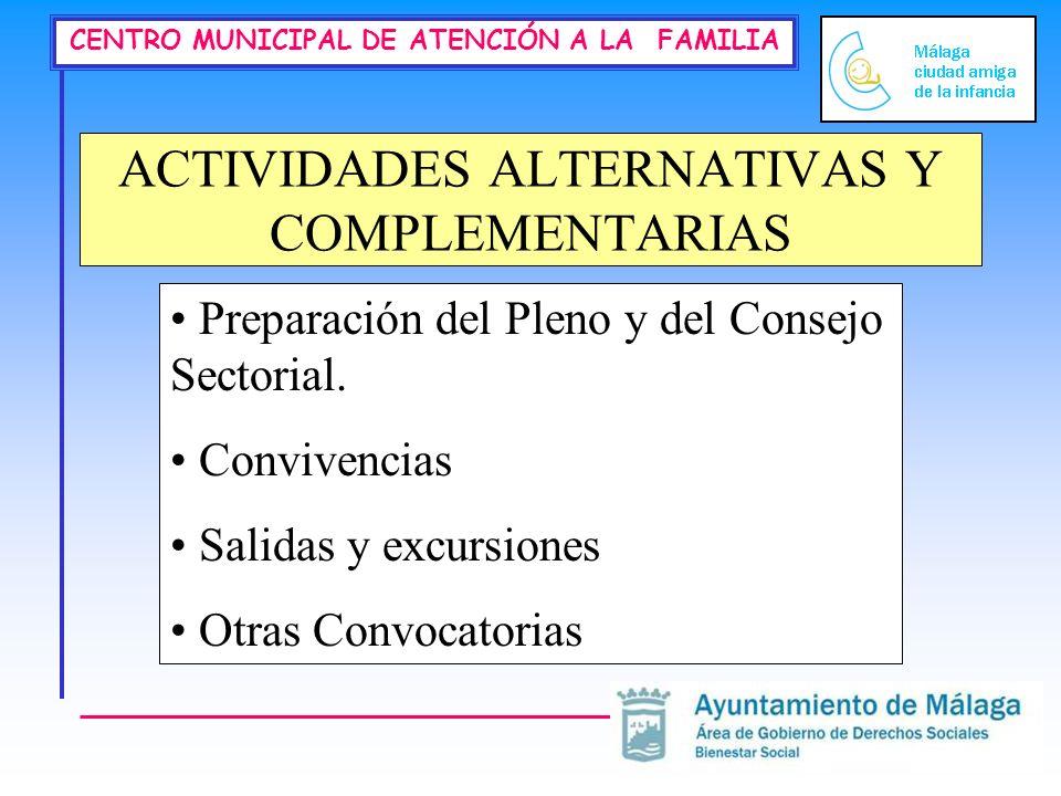 ACTIVIDADES ALTERNATIVAS Y COMPLEMENTARIAS