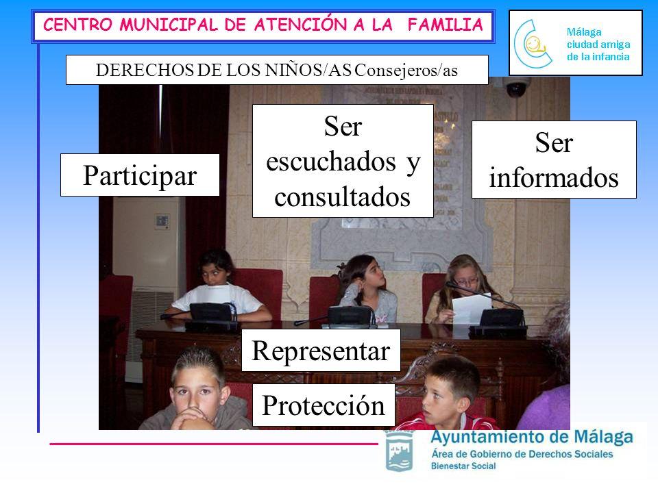 Ser escuchados y consultados Ser informados Participar