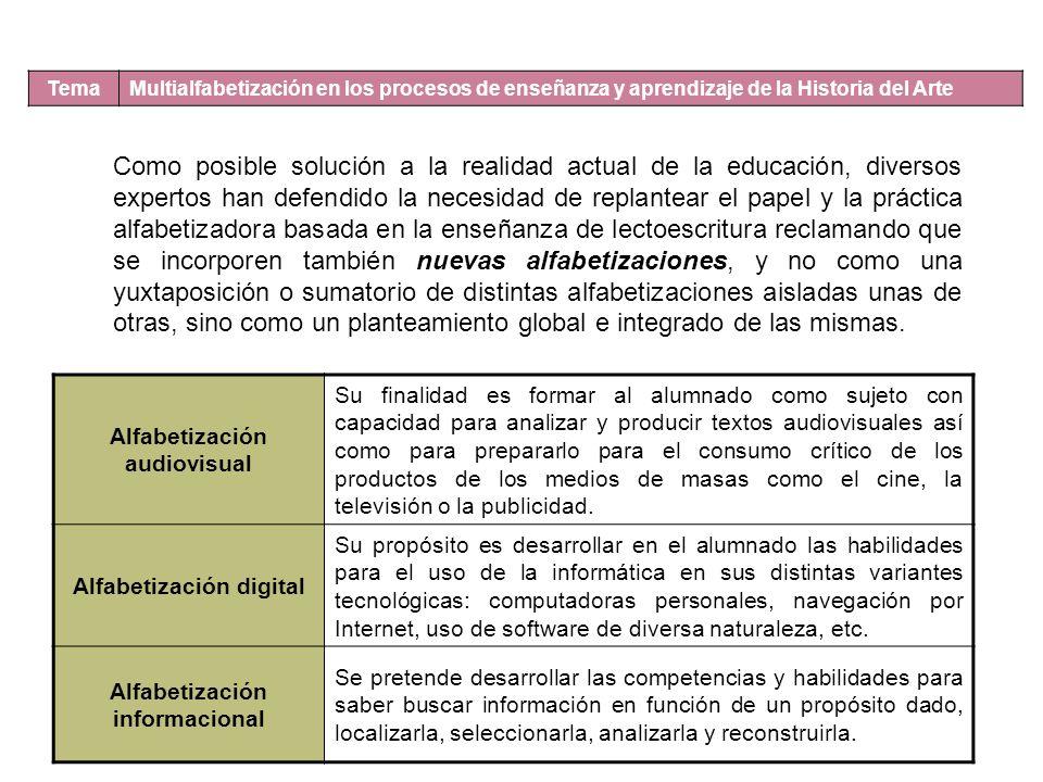 Alfabetización audiovisual Alfabetización informacional