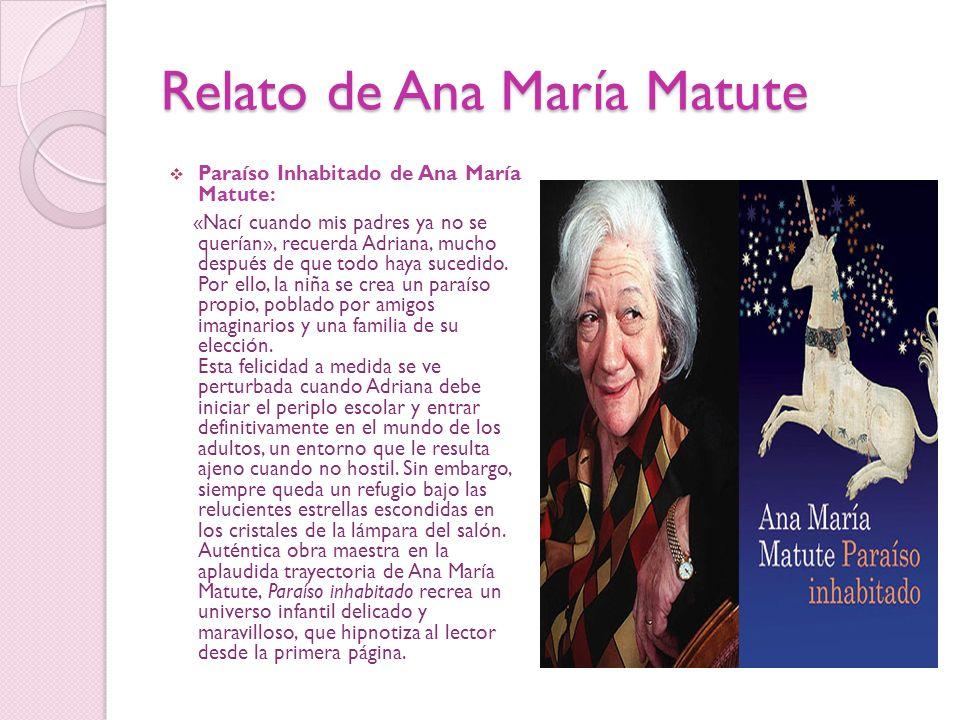 Relato de Ana María Matute