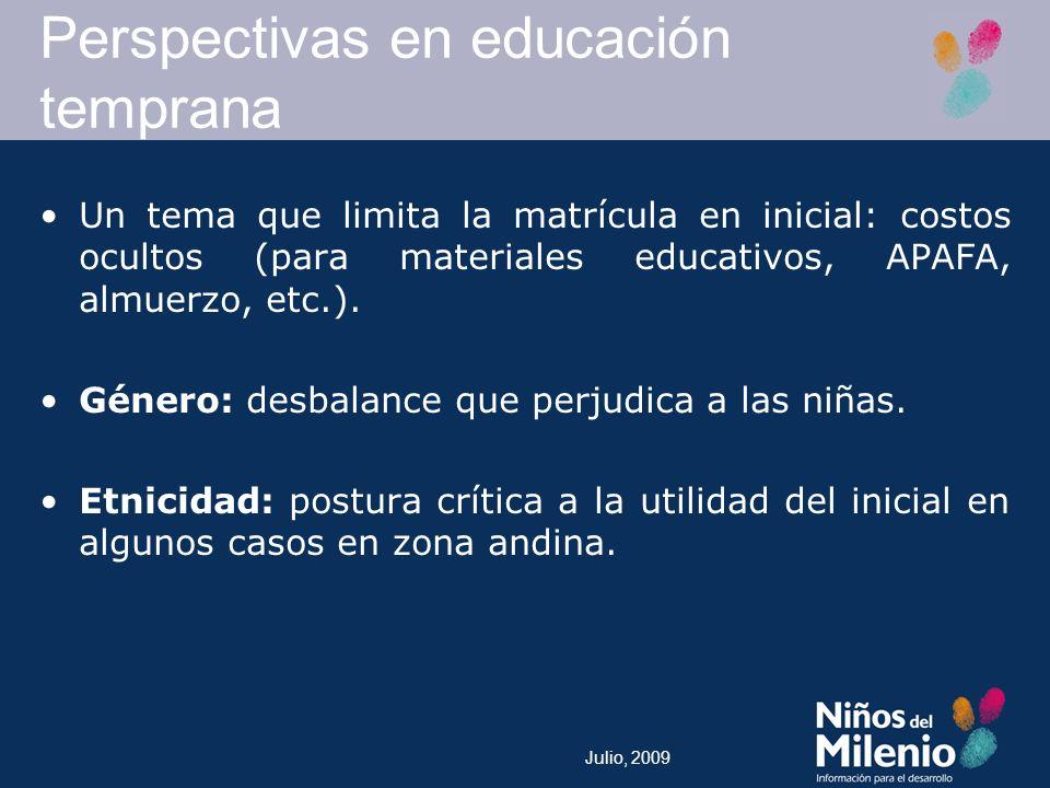 Perspectivas en educación temprana