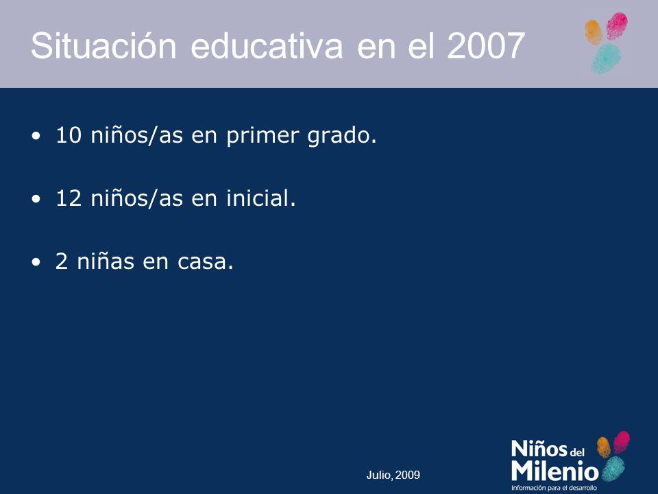 Situación educativa en el 2007
