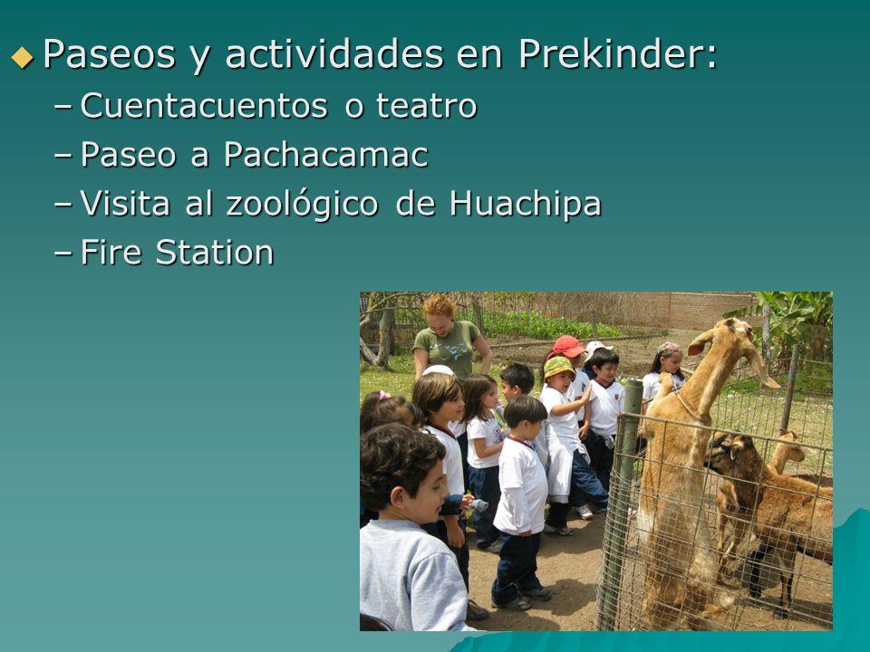 Paseos y actividades en Prekinder:
