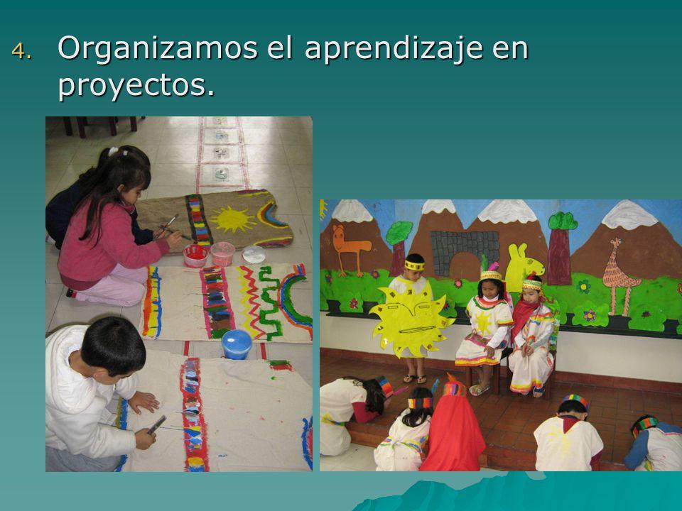 Organizamos el aprendizaje en proyectos.