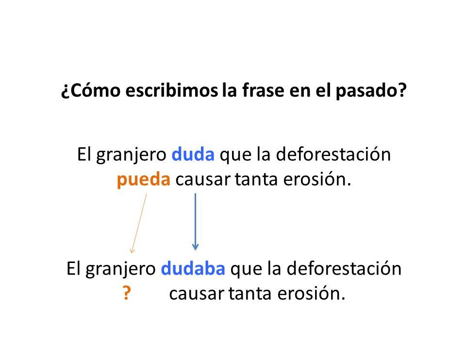 ¿Cómo escribimos la frase en el pasado