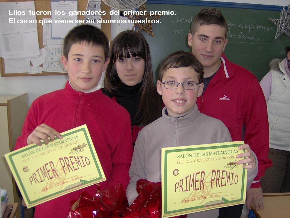 Ellos fueron los ganadores del primer premio