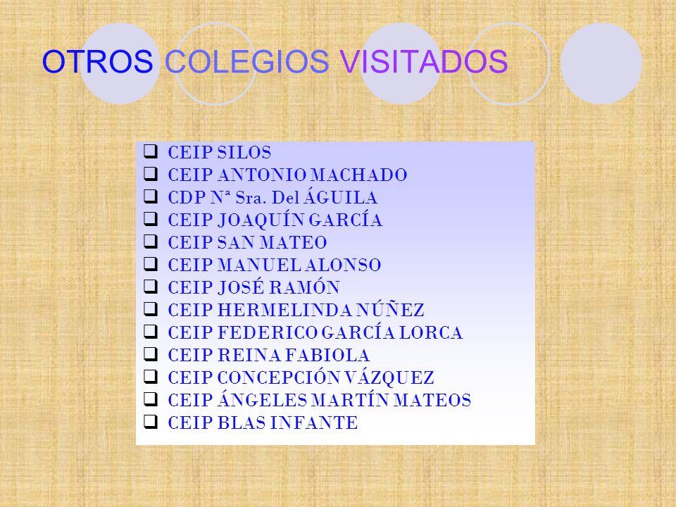 OTROS COLEGIOS VISITADOS