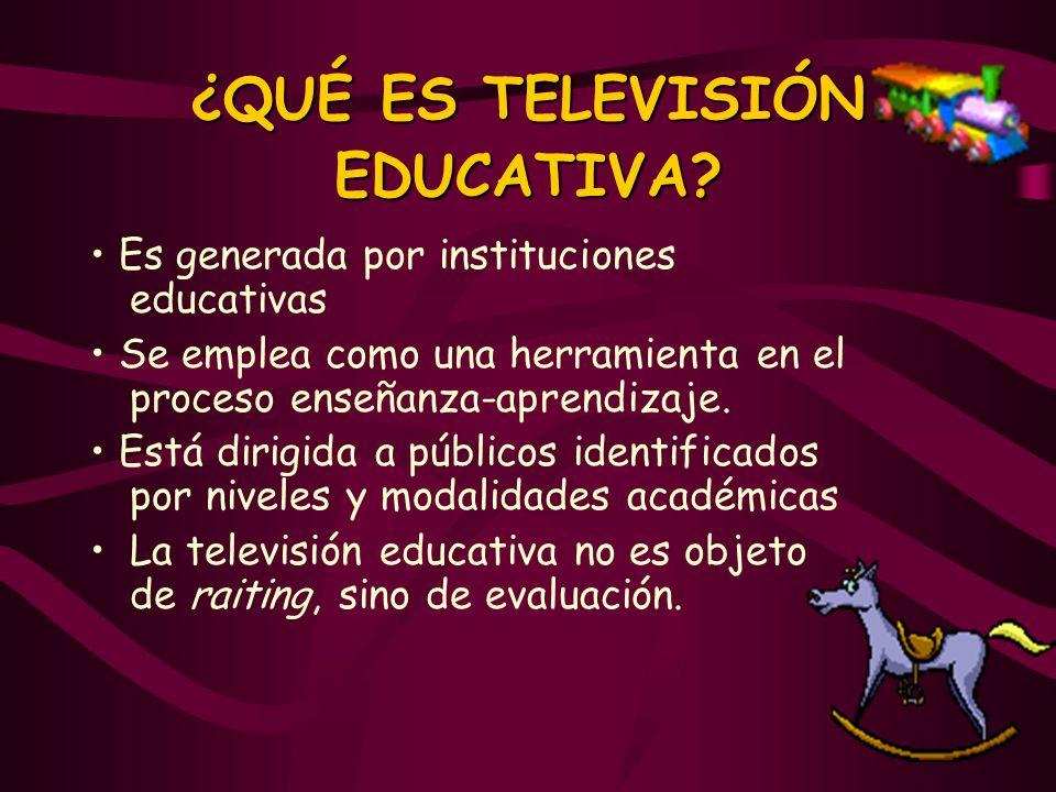 ¿QUÉ ES TELEVISIÓN EDUCATIVA