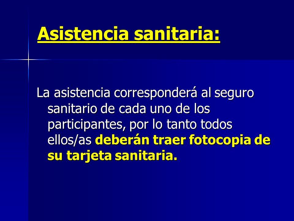 Asistencia sanitaria: