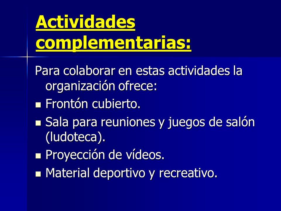 Actividades complementarias: