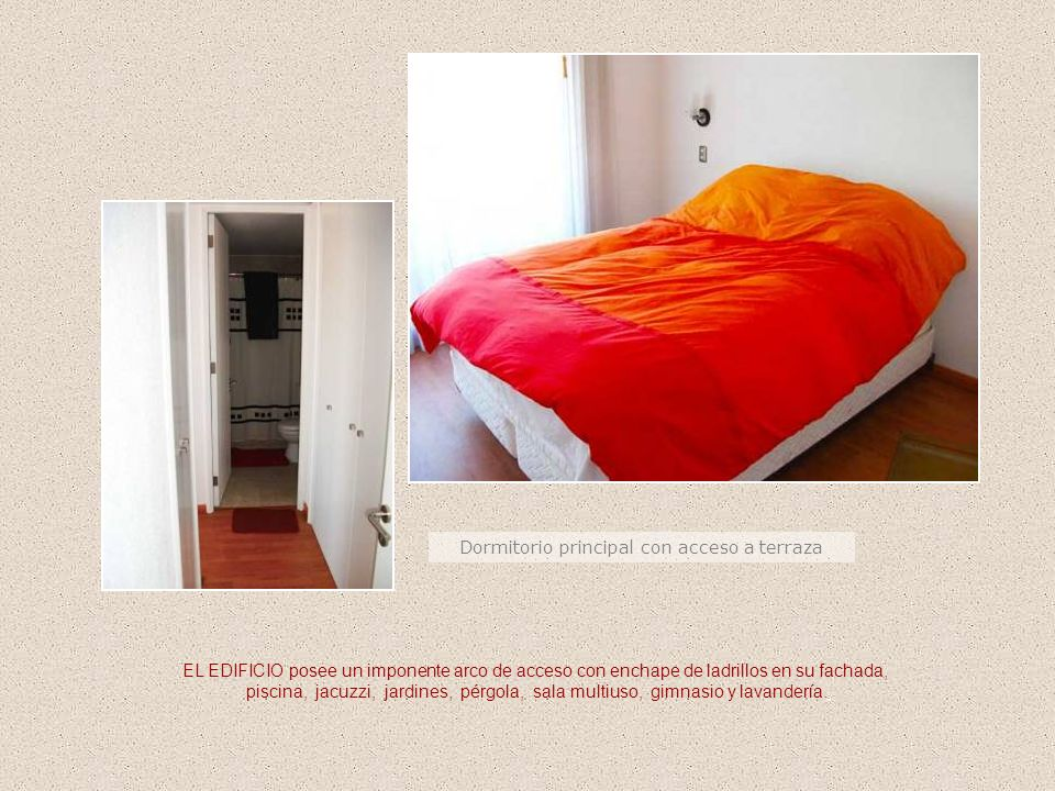 Dormitorio principal con acceso a terraza