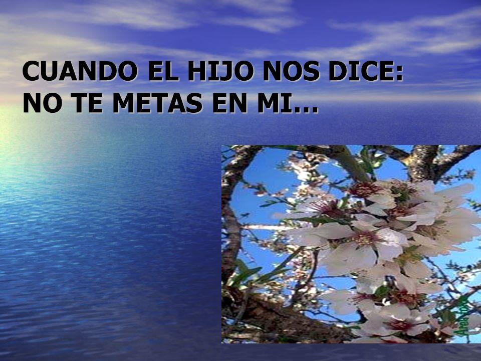CUANDO EL HIJO NOS DICE: