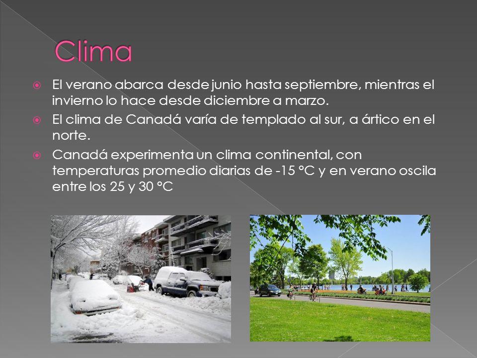 Clima El verano abarca desde junio hasta septiembre, mientras el invierno lo hace desde diciembre a marzo.