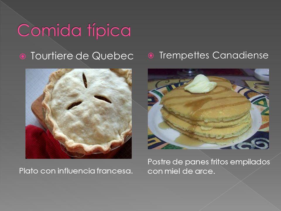 Comida típica Tourtiere de Quebec Trempettes Canadiense