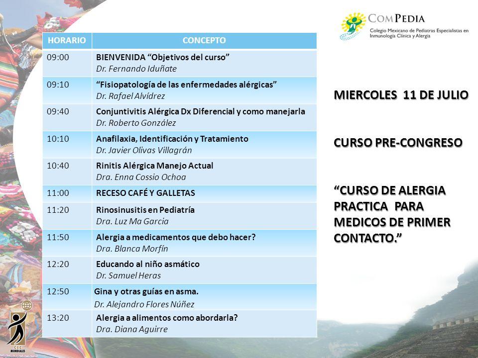 CURSO DE ALERGIA PRACTICA PARA MEDICOS DE PRIMER CONTACTO.