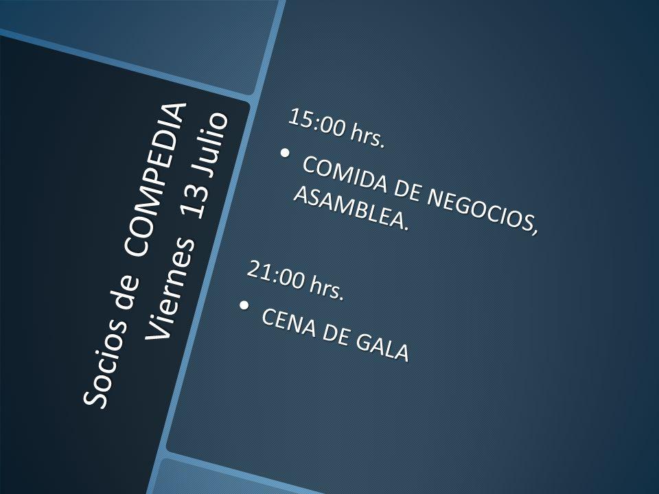 Socios de COMPEDIA Viernes 13 Julio