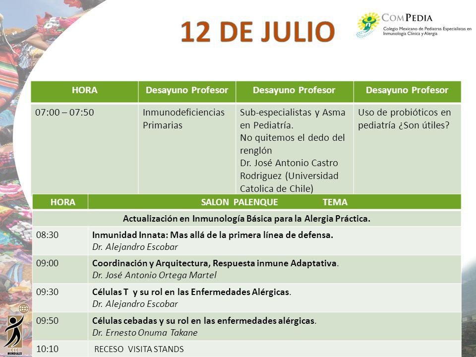 Actualización en Inmunología Básica para la Alergia Práctica.