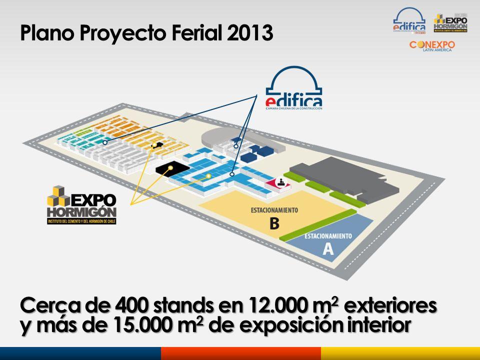 Plano Proyecto Ferial 2013 Cerca de 400 stands en 12.000 m2 exteriores