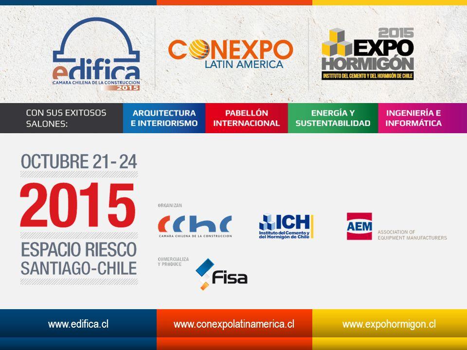 www.edifica.cl www.conexpolatinamerica.cl www.expohormigon.cl