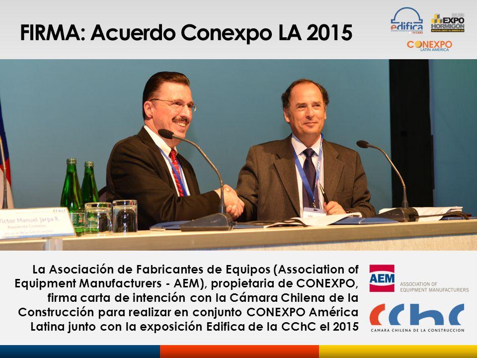FIRMA: Acuerdo Conexpo LA 2015