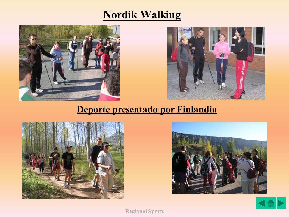 Nordik Walking Deporte presentado por Finlandia Regional Sports