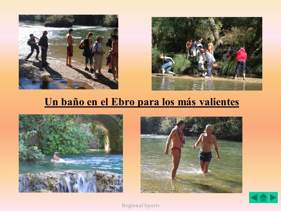 Un baño en el Ebro para los más valientes