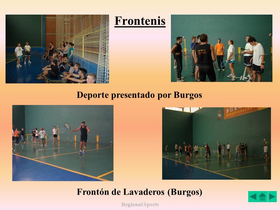 Frontenis Deporte presentado por Burgos Frontón de Lavaderos (Burgos)
