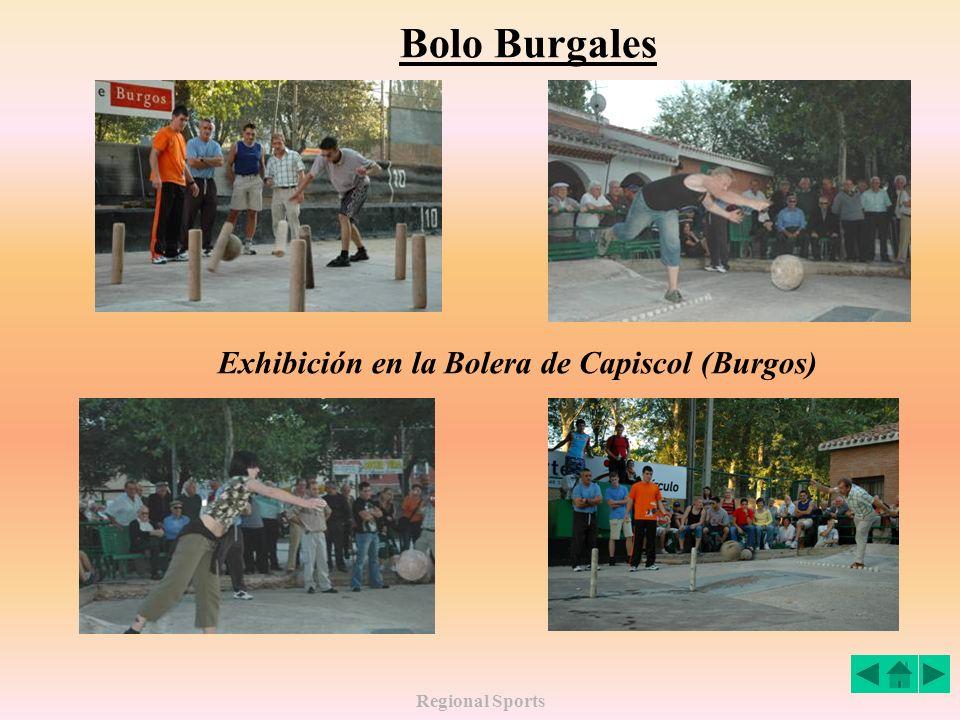 Bolo Burgales Exhibición en la Bolera de Capiscol (Burgos)