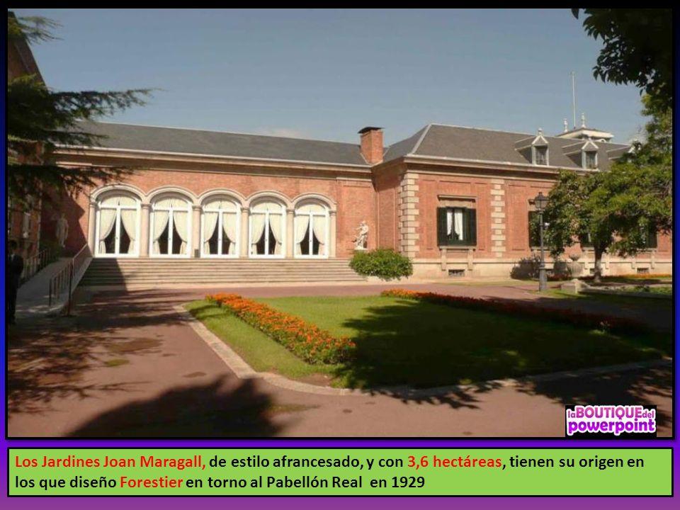 Los Jardines Joan Maragall, de estilo afrancesado, y con 3,6 hectáreas, tienen su origen en los que diseño Forestier en torno al Pabellón Real en 1929