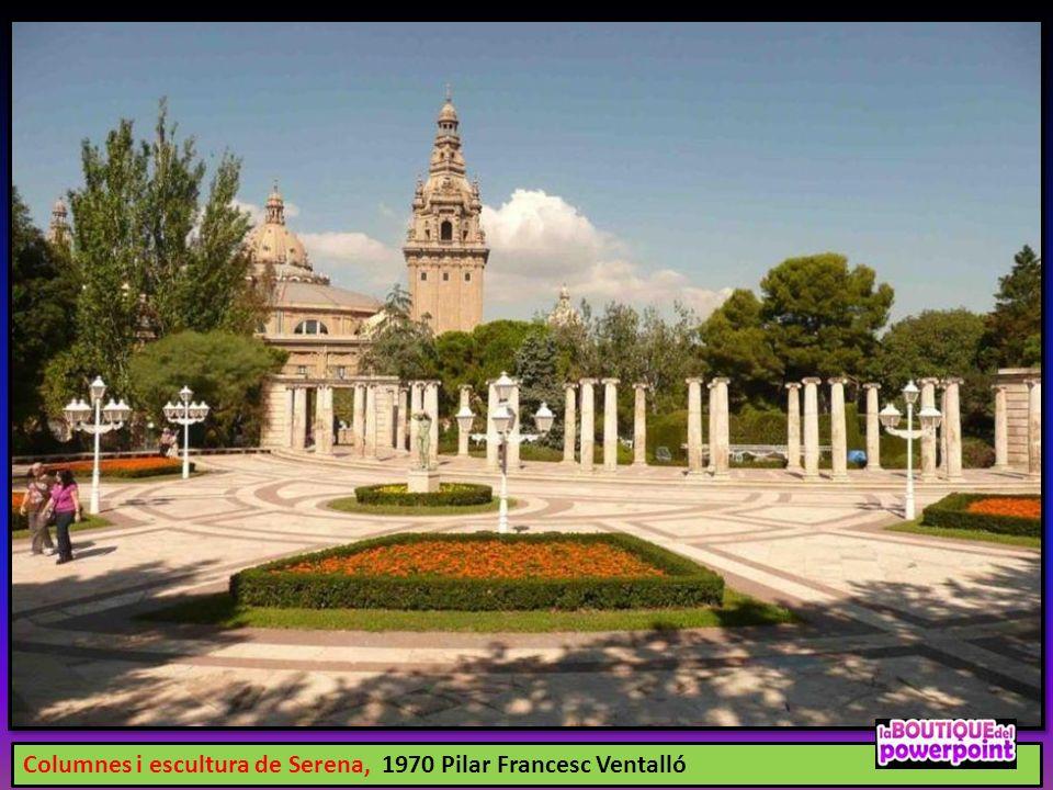 Columnes i escultura de Serena, 1970 Pilar Francesc Ventalló