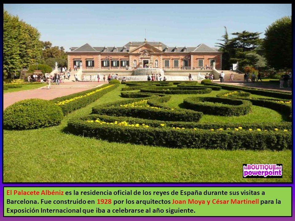 El Palacete Albéniz es la residencia oficial de los reyes de España durante sus visitas a Barcelona.