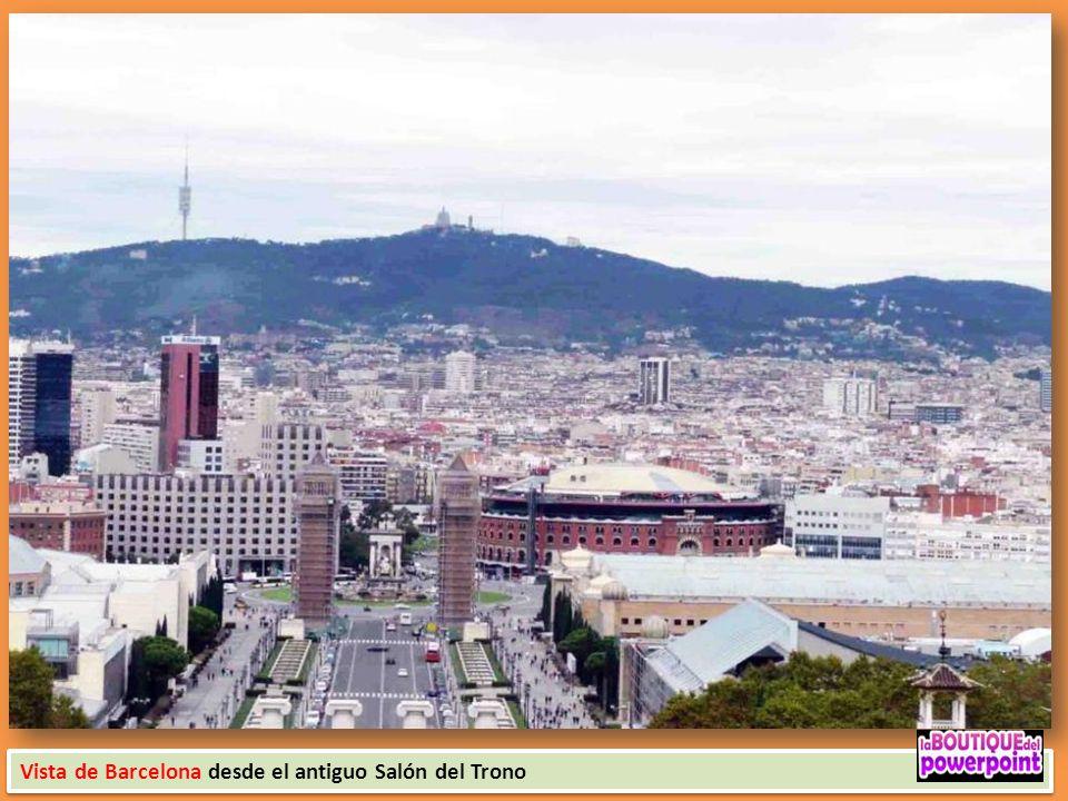 Vista de Barcelona desde el antiguo Salón del Trono