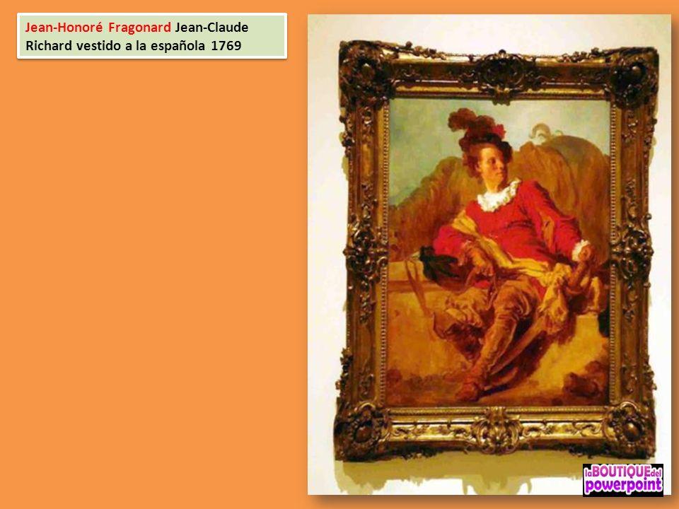 Jean-Honoré Fragonard Jean-Claude Richard vestido a la española 1769