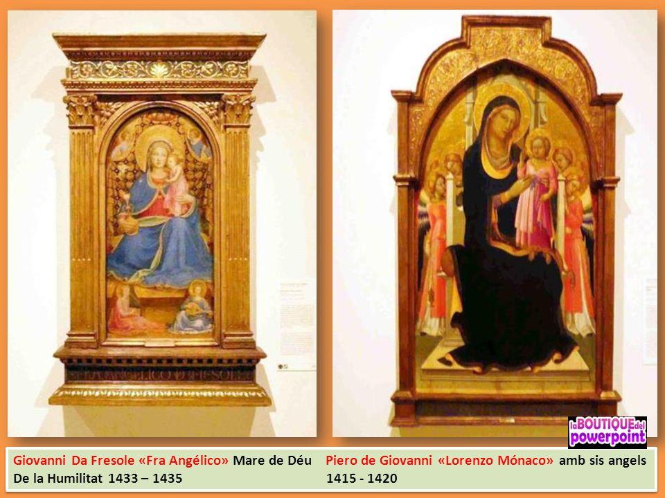 Giovanni Da Fresole «Fra Angélico» Mare de Déu Piero de Giovanni «Lorenzo Mónaco» amb sis angels