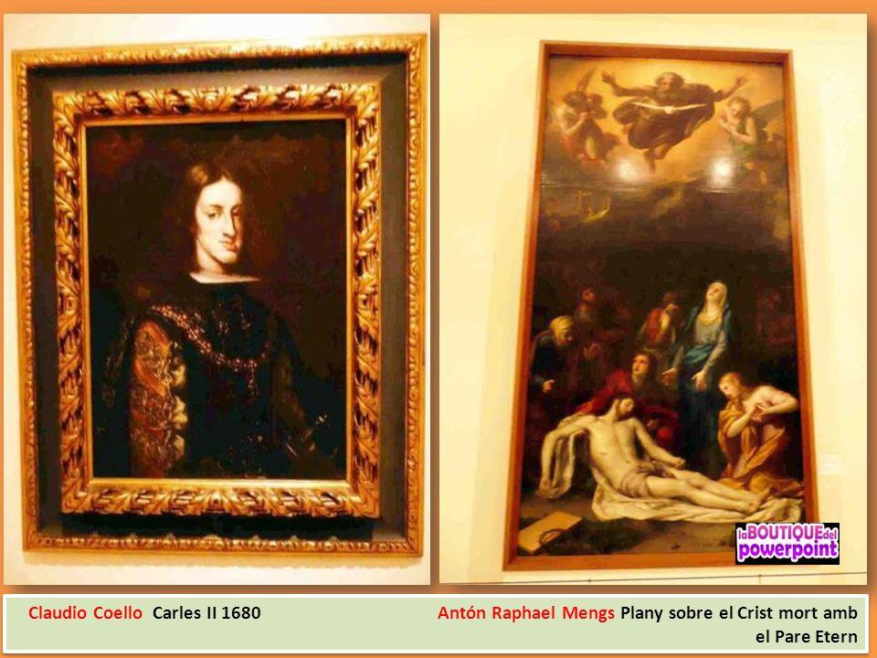 Claudio Coello Carles II 1680 Antón Raphael Mengs Plany sobre el Crist mort amb el Pare Etern