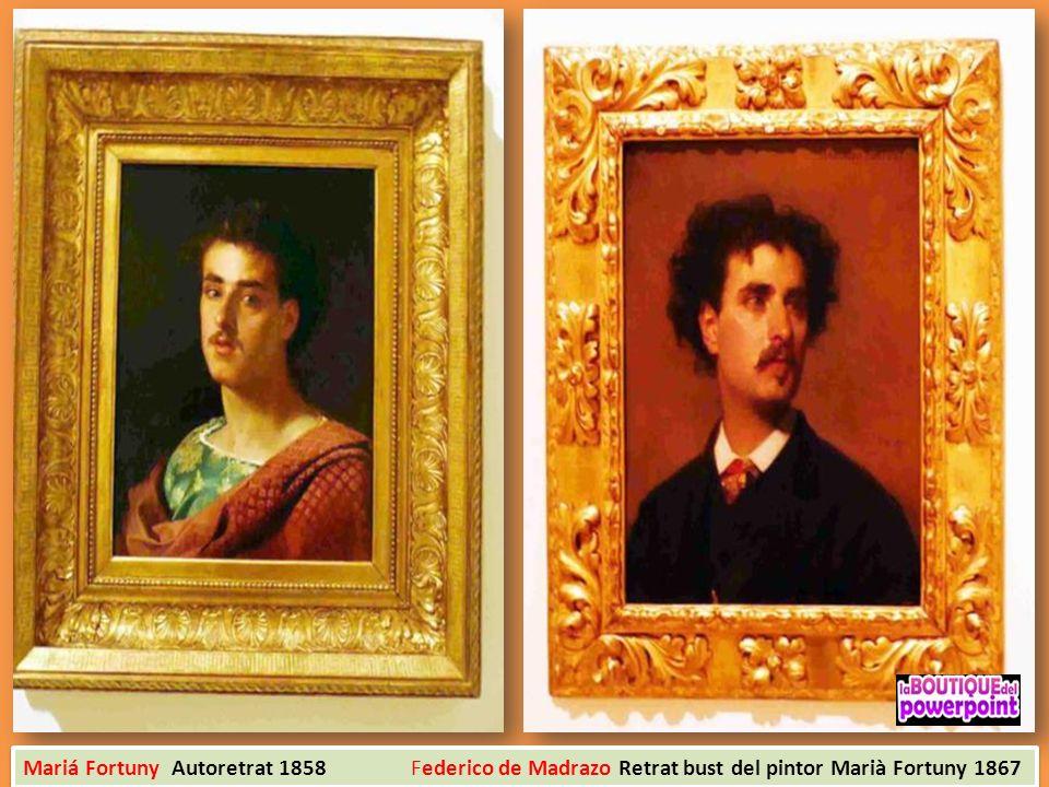 Mariá Fortuny Autoretrat 1858 Federico de Madrazo Retrat bust del pintor Marià Fortuny 1867