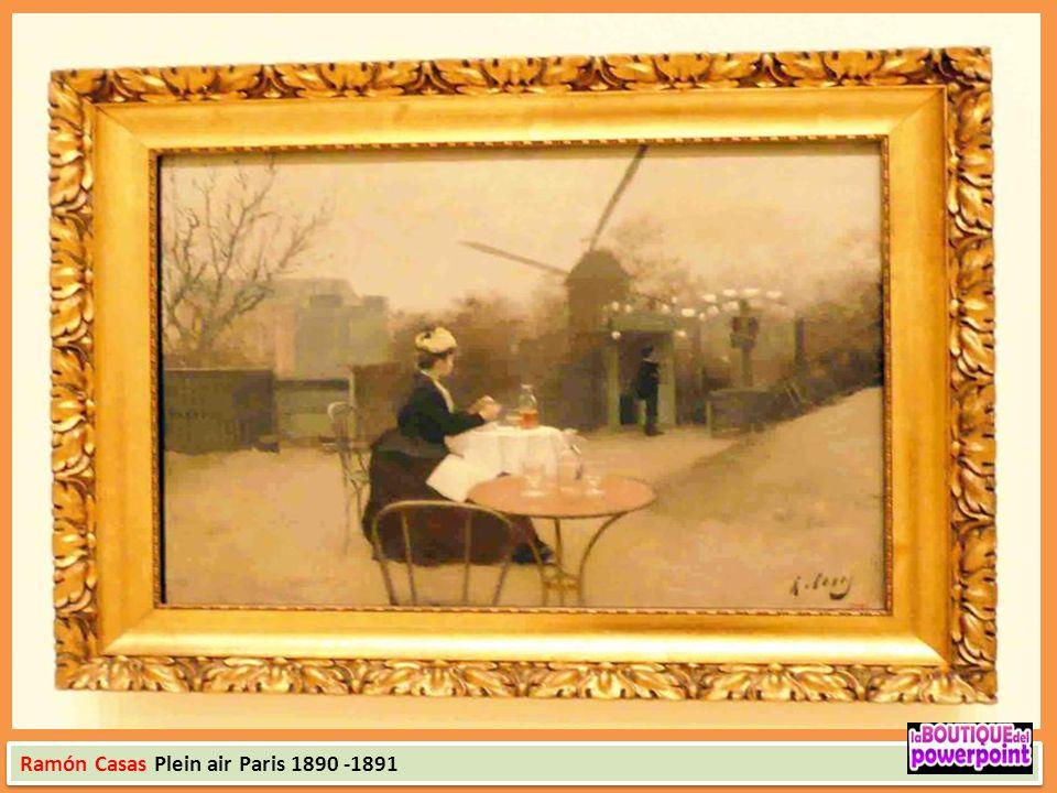 Ramón Casas Plein air Paris 1890 -1891