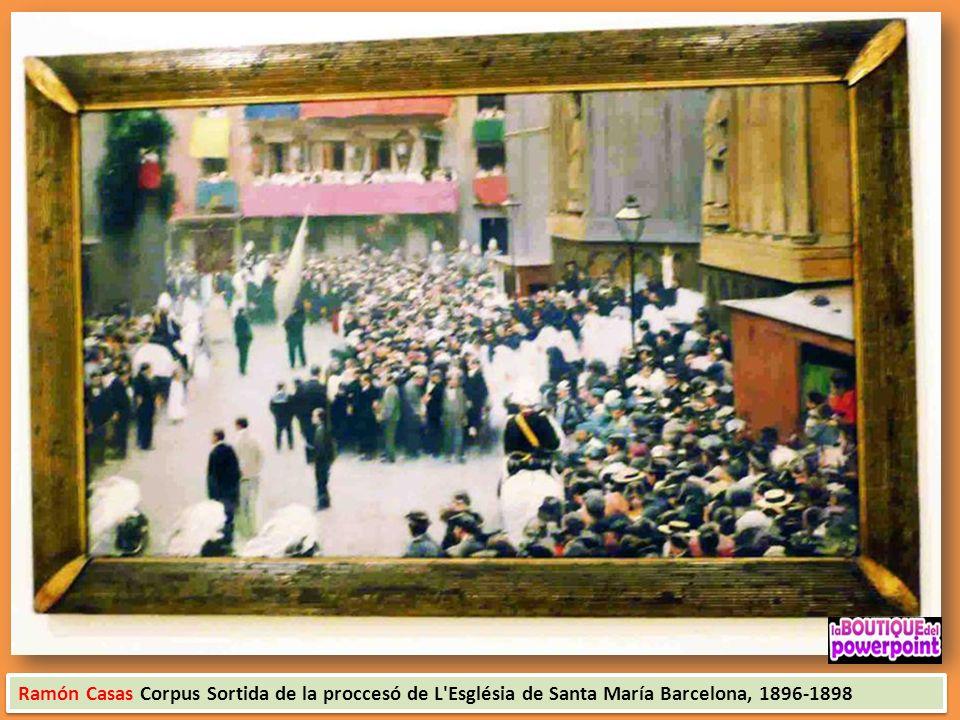 Ramón Casas Corpus Sortida de la proccesó de L Església de Santa María Barcelona, 1896-1898