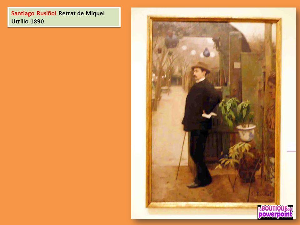 Santiago Rusiñol Retrat de Miquel Utrillo 1890