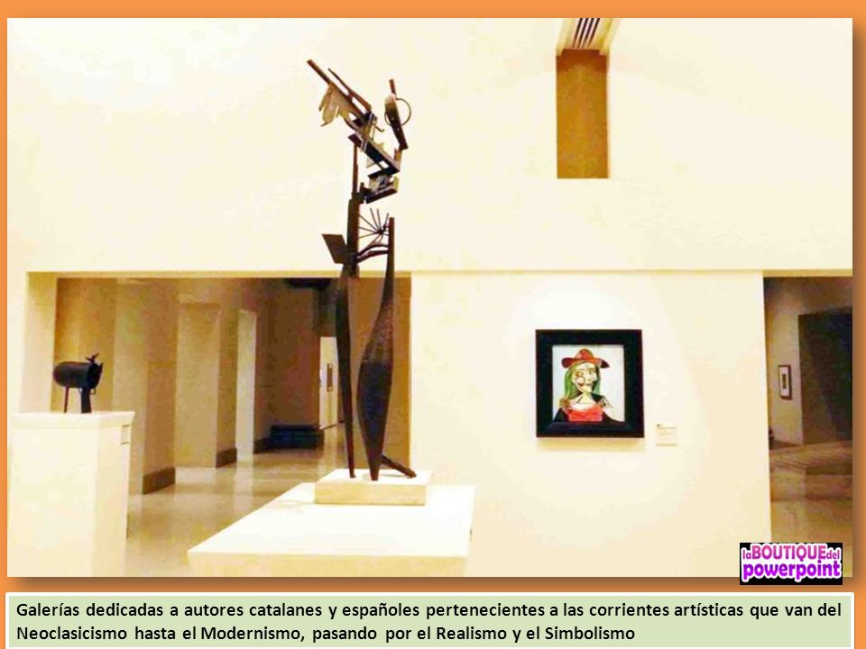 Galerías dedicadas a autores catalanes y españoles pertenecientes a las corrientes artísticas que van del Neoclasicismo hasta el Modernismo, pasando por el Realismo y el Simbolismo