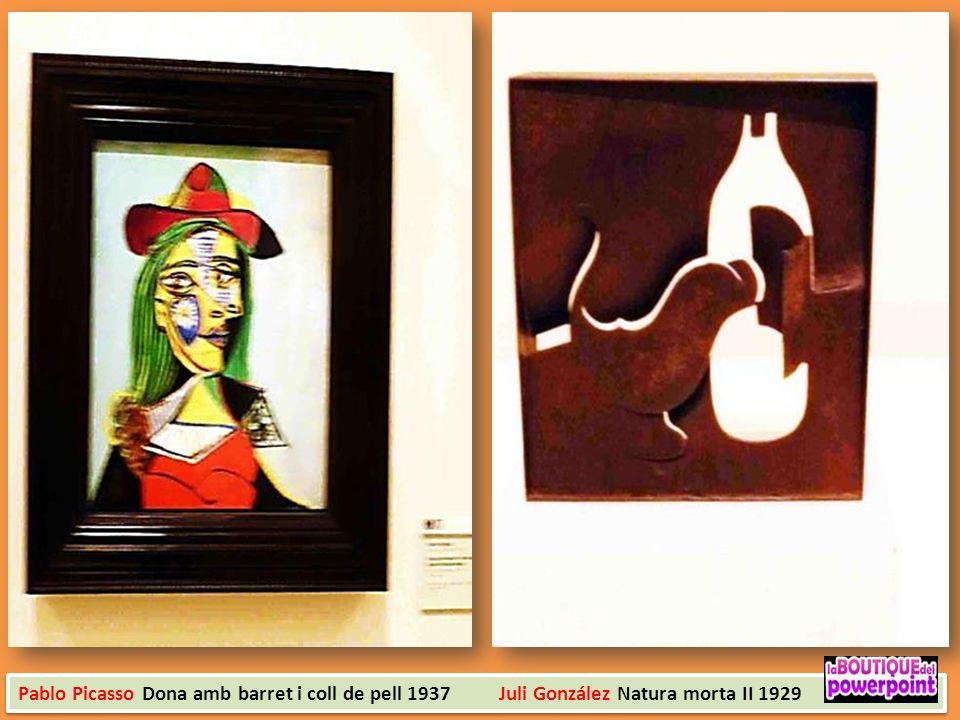 Pablo Picasso Dona amb barret i coll de pell 1937 Juli González Natura morta II 1929