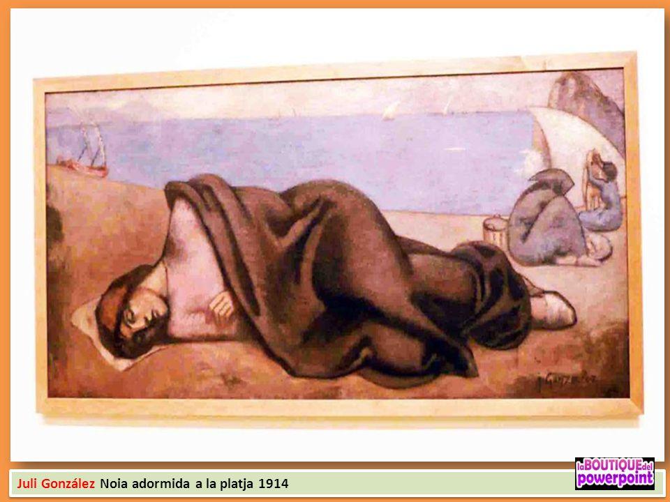 Juli González Noia adormida a la platja 1914