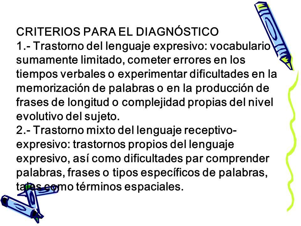 CRITERIOS PARA EL DIAGNÓSTICO 1