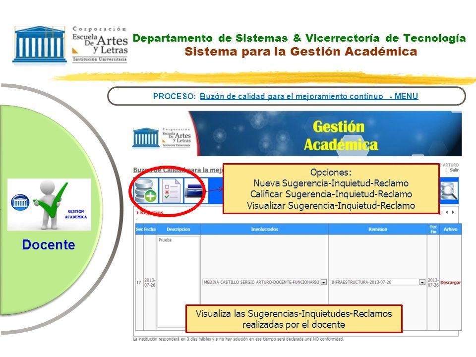 PROCESO: Buzón de calidad para el mejoramiento continuo - MENU