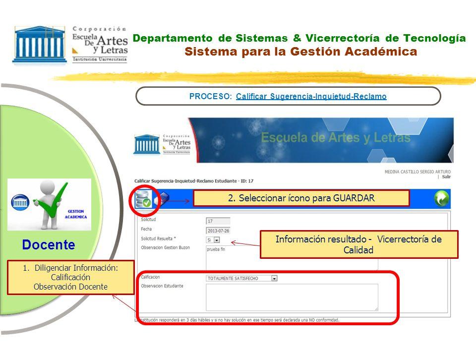 PROCESO: Calificar Sugerencia-Inquietud-Reclamo